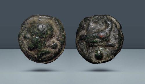 Roma Cumhuriyeti AE Uncia.  Anonim.  Roma, c.  MÖ 225/217