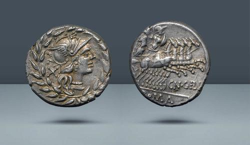 Roma Cumhuriyeti.  Cn.  Gellius Roma, MÖ 138