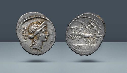 Roma Cumhuriyeti.  C.Considivs Paetus.  Roma, MÖ 46