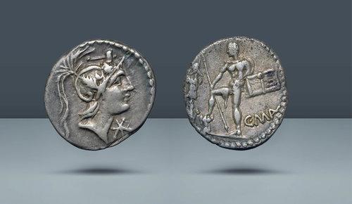Roma Cumhuriyeti.  C.Mall.  A.Albinvs SF, L. Metel.  Roma, MÖ 96 (?)