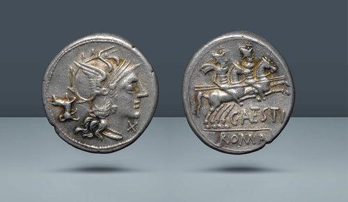Roma Cumhuriyeti.  C. Antestia.  Roma, MÖ 146