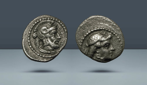 Kilikya, Tarsos.  Tarkumuwa (Datames).  Kilikya ve Kapadokya Satrabı.  384-361 / 0 BC