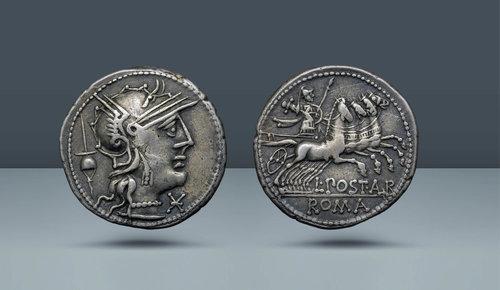 Roma Cumhuriyeti, L. Postumius Albinus.  Roma, c.  MÖ 131