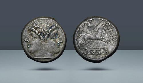 Roma Cumhuriyeti.  Anonim, c. 225-214 BC