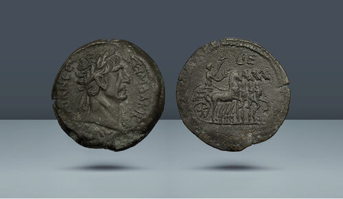 Trajan.  MS 98-117.  İskenderiye, Mısır, yak.  MS 111-112 (Yıl 15)