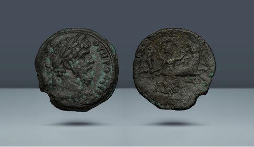 Lucius Verus.  MS 161-169.  İskenderiye, Mısır