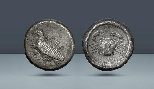 SİCİLYA.  Agrigentum.  c.  495-480 / 78 BC