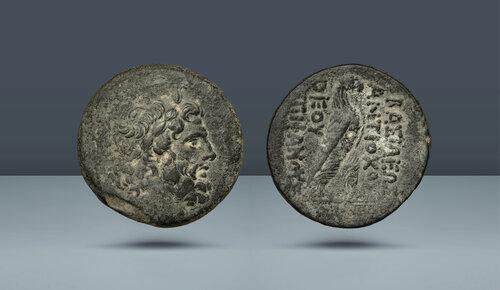 SELEUCID KRALLIĞI.  Antiochus IV.  MÖ 175-164.  Asi'de Antakya, yak.  sonbahar 169-yaz / sonbahar MÖ 168
