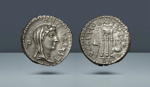 Roma Cumhuriyeti.  L. Sestius.  Brutus ile nane taşımak, c.  MÖ 43/2