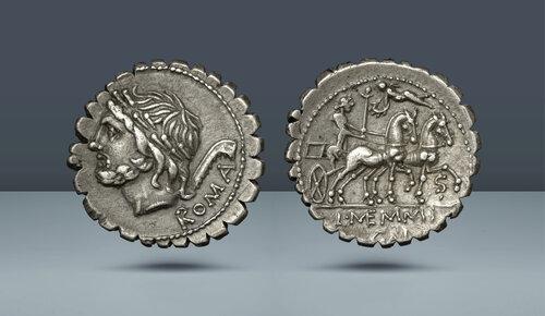 Roma Cumhuriyeti.  L. Memmius Galeria.  Roma, c.  106 BC