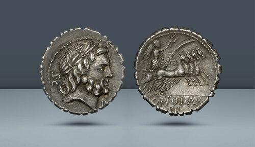 Roma Cumhuriyeti.  Q. Antonius Balbus.  Roma, c.  MÖ 83-82