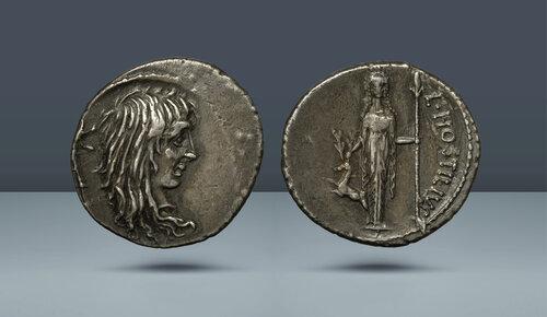 Roma Cumhuriyeti.  L. Hostilius Saserna.  Roma, c.  MÖ 48