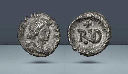 Ostrogotların Kralı.  Teoderik.  MS 493-526.  Ravenna nane