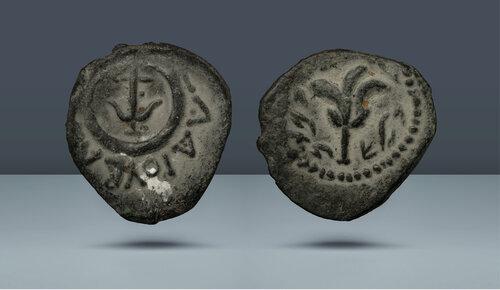 Judaea.  Hasmon Hanedanı.  Alexander Jannaeus.  MÖ 167-34.  Vuruldu, c.  MÖ 104-76