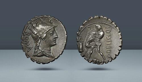 Roma Cumhuriyeti, C. Publicius.  Roma darphanesi, c.  MÖ 80