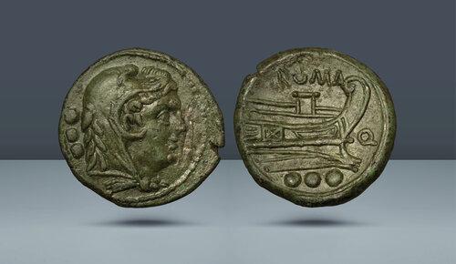 Roma Cumhuriyeti, Anonim.  Güney Doğu İtalya.  c.  MÖ 211-210