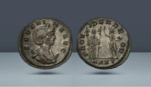 Aurelian'ın karısı Severina.  MS 270-274