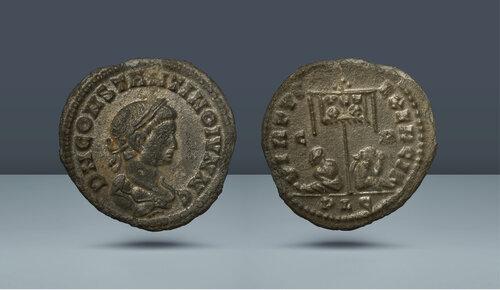 Konstantin II, Sezar olarak.  Lugdunum, yak.  MS 321
