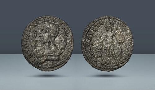 Gordion III Zamanı.  Sözde özerk sorunlar.  Marcus Aurelius Tertius, sulh hakimi.  MS 238-244.  Ionia, Smyrna, yak.  242-244 AD