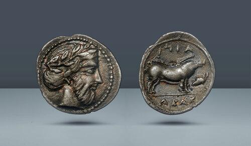 SİCİLYA.  Abakainon.  c.  430-420 BC.