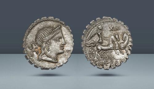 ROMA CUMHURİYETİ.  C. Naevius Balbus.  Roma, c.  MÖ 79