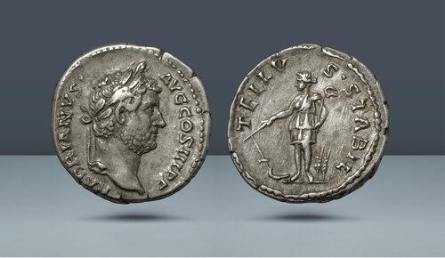 Hadrian, MS 117-138.  Roma, c.  130'ların ortası