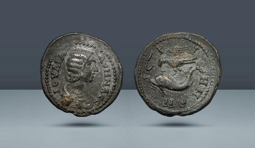 ROMA İLİ.  Istros, Moesia.  Julia Domna, Septimius Severus'un karısı.  MS 193-217