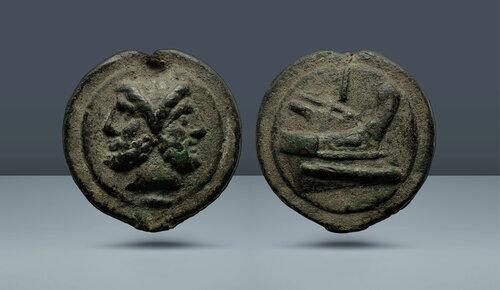 Roma Cumhuriyeti, Aes Grave.  Libral Serisi.  Roma, c.  MÖ 225-217