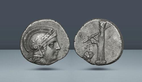 Troas.  Ilion.  Anepigrahik sorun.  Muhtemelen Memnon of Rhodes altında.  c.  MÖ 350-340