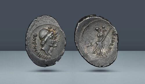 Roma Cumhuriyeti, Mn.  Cordius Rufus.  Roma, MÖ 46