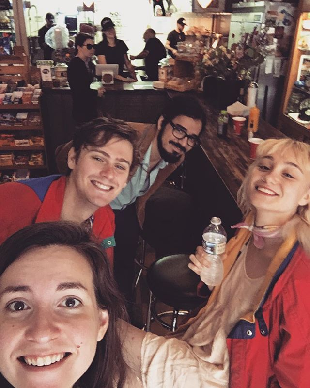 Happy Valentine's from Sad Fish & Orange Doors! At bfast this morn we just happen to run into some dear Charleston friends, what a serendipitous occasion. #sadfish #orangedoors #sisterband #psych #atlanta #charleston