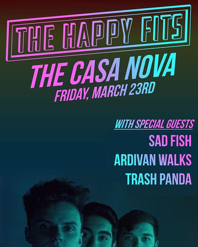 SAD FISH BIRTHDAY SHOW! We're all March babies, come celebrate our bdayz and good music on March 23rd! #sadfish #casanovadiy #atlanta #atldiy #thehappyfits #trashpanda #ardivanwalks