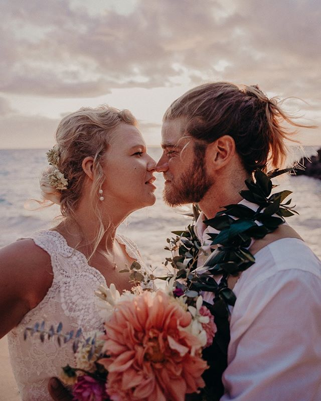 The look of forever love 💕 . . . . . #soniaprimeranophotography #loveherwildpresets #belovedstories #alovewild #radlovestories #hawaiiweddingphotographer #destinationweddingphotographer #bigislandphotographer #bigislandweddingphotographer #beachwedding #bohowedding #elopementphotographer #hawaiiwedding #hawaiielopement #loveauthentic #elopementwedding #dirtybootsandmessyhair