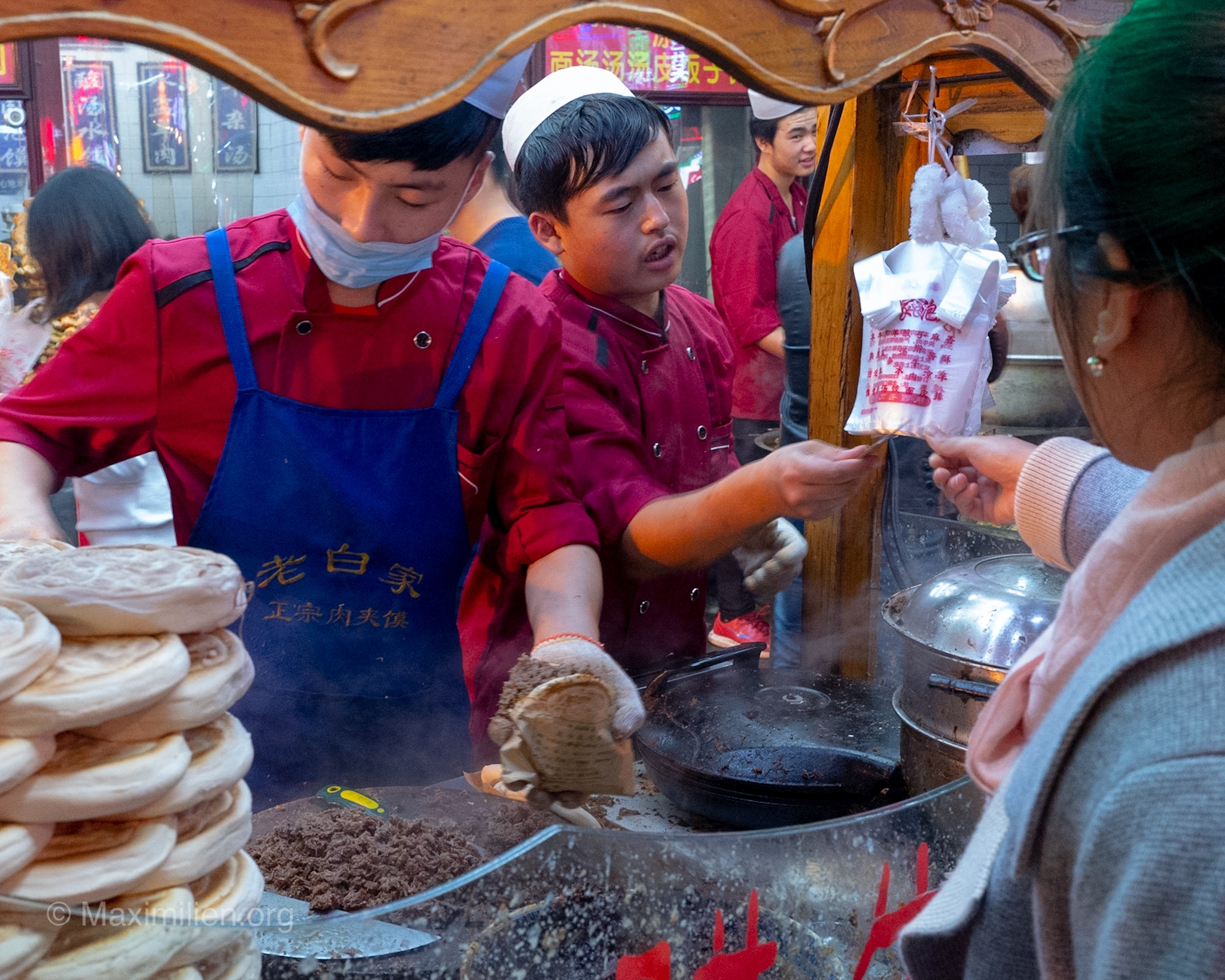 Muslim market in Xi'an, China