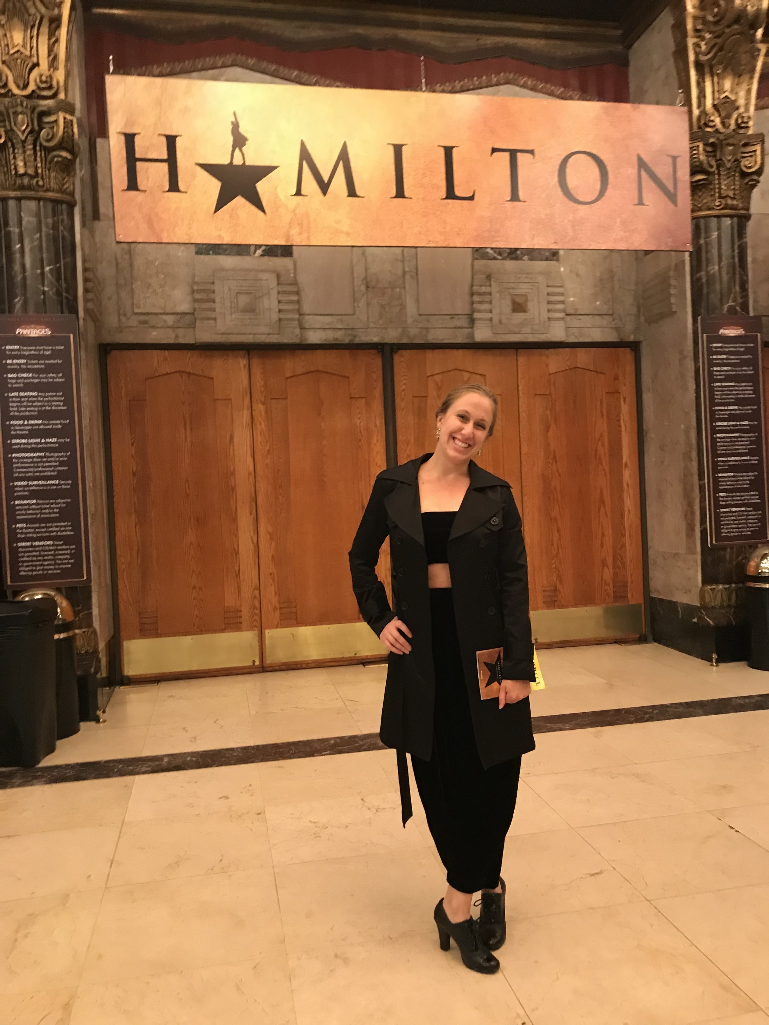 During the first few months in LA, I had the opportunity to see Hamilton. It was a beautiful gift amidst a stormy season.