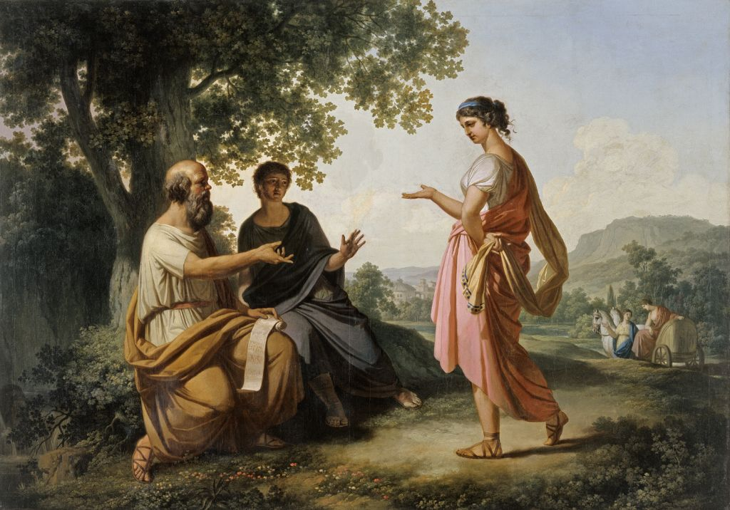 """Socrates with Diotima and a Disciple,"" by Franz Caucig, before 1810"