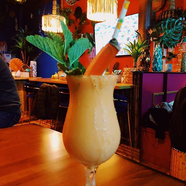 SO excited that @nobonesbeachclub is here in Chicago!!! We didn't get any food pics before we inhaled it because it's all SO good. The carrot colada pictured is available without alcohol and it's the best thing I've ever tried and I could go on and on but we can't wait to come here literally all the time.