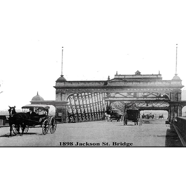 #FlashbackFriday Check out what the Jackson Street bridge used to look like. We've come a long way since 1898!