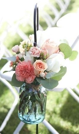 Aisle floral arrangement