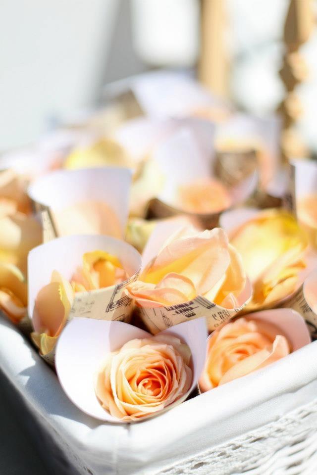 Tossing petals