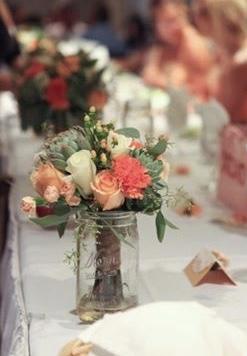 Succulent bridesmaid bouquet