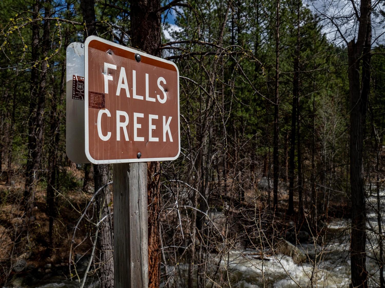 Spring run off up at Falls Creek