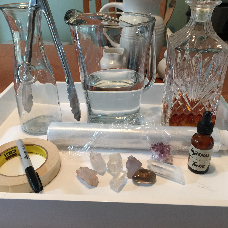 crystal tonic making / krista-mitchell.com
