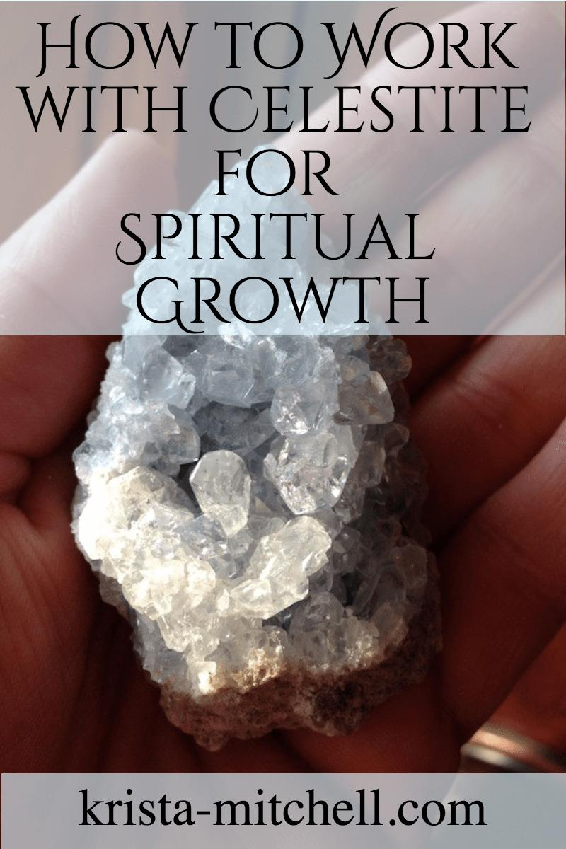 how to work with celestite for spiritual growth / krista-mitchell.com