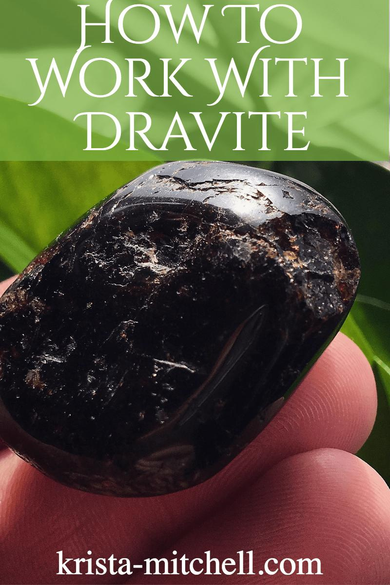 How to work with dravite (brown tourmaline) / krista-mitchell.com