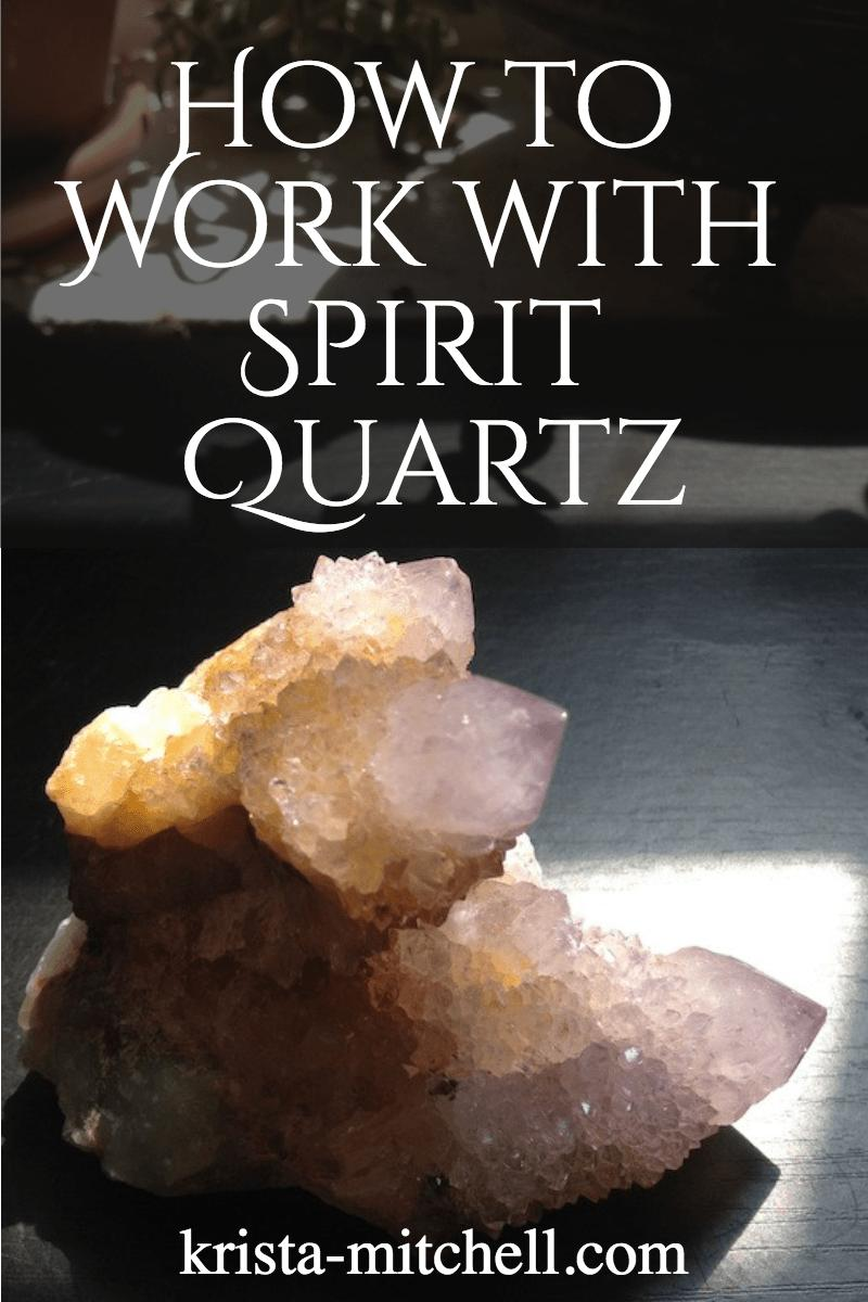 Spirit quartz is a powerful aura healer and protector, that boosts courage, and enhances your connection to the fairy and nature spirit realm