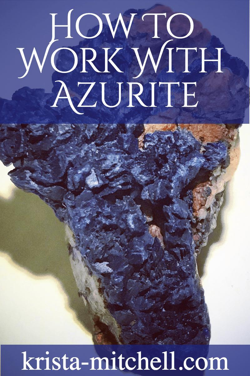 Azurite is a powerhouse third eye chakra crystal that helps you dramatically increase your psychic abilities and awareness, divination skills, and think outside the box