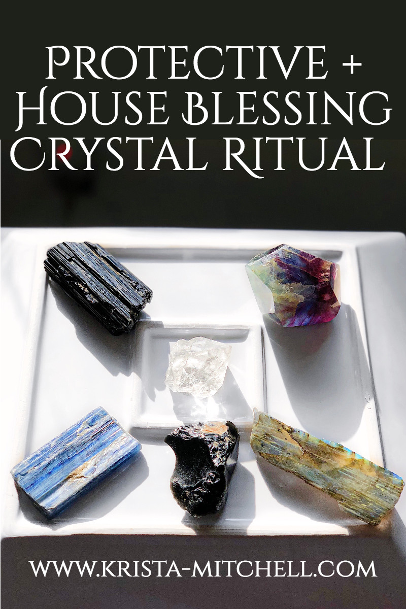 Protective + House Blessing Crystal Ritual Poster