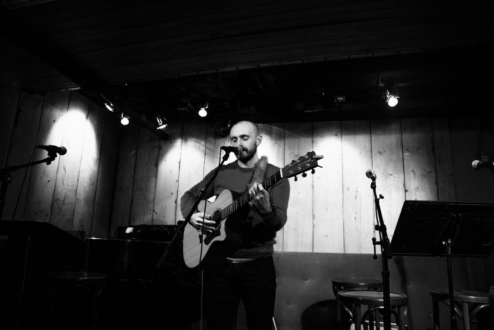 "Joe Holt is a folk singer/songwriter who graduated from Berklee College of Music in 2015.  Joe has released three EPs and two full length albums. He has toured around America four times, playing venues like Club Passim (Boston), the Hard Rock Cafe (Boston), Rockwood Music Hall (NYC), The Bitter End (NYC), the Bluebird Cafe (Nashville), the Whisky A Go Go (Los Angeles), and has received airplay on over 60 radio stations internationally. Joe's second full length album ""The Person I Admire"" charted on three radio stations, notably #3 in Redway, CA. He has been named Artist of the Week at WERU (Bangor, ME) twice. The song ""As Bad As It Seems,"" from Joe's EP ""Something Louder,"" was featured on NPR's All Songs Considered blog in March 2018.  Indie Minded praised Joe as ""a gifted young talent who is sure to leave his mark on the folk music scene."" Other credits include opening for nationally touring acts including Parker Millsap, Davina and the Vagabonds, and Ian Fitzgerald, scoring the short film The Race, and driving 13,000 miles in three weeks.  Joe lives in New York City. Find his music on iTunes, Spotify, and Amazon.   https://joeholtmusic.com/"
