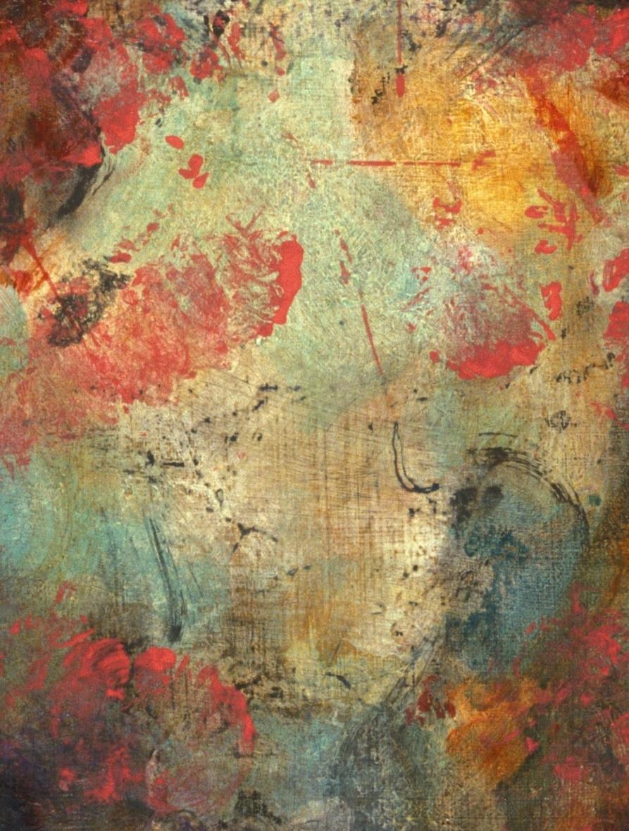 "Detail, ""Axis Mundi,"" acrylic on panel"
